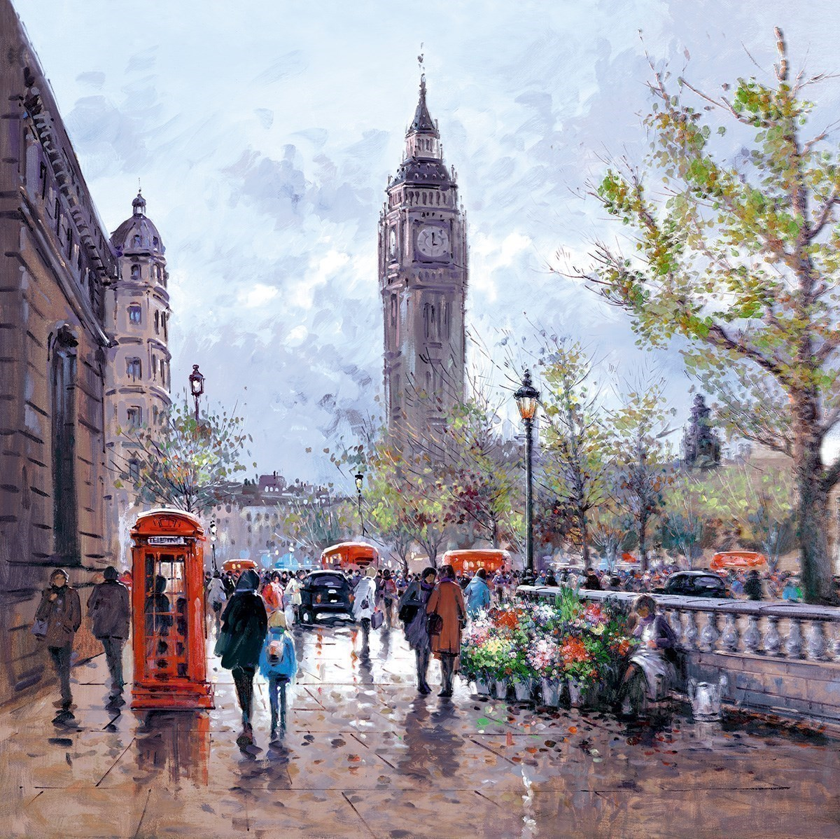 Memories Of London by Henderson Cisz - Hand Finished Limited Edition on Canvas sized 30x30 inches. Available from Whitewall Galleries